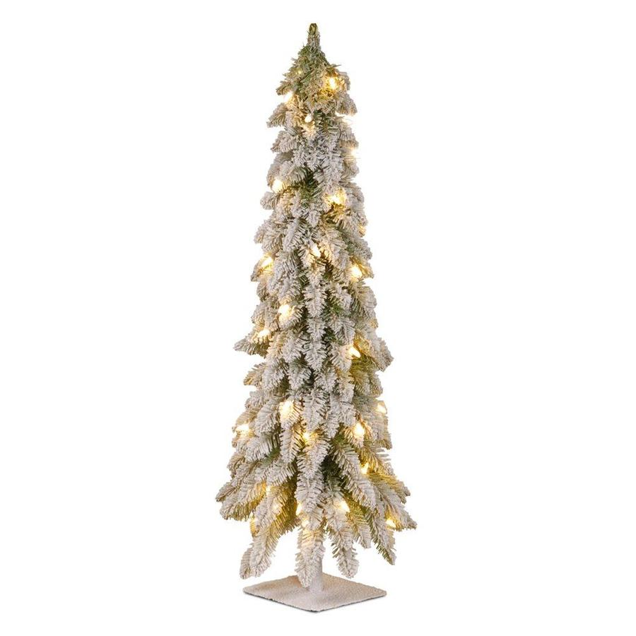 50 Foot Christmas Tree: National Tree Company 3-ft Pre-lit Slim Flocked Artificial