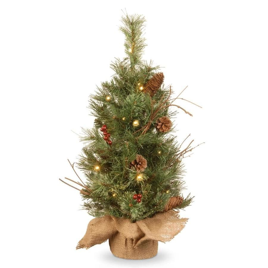 national tree company 2 ft pre lit artificial christmas tree with 15 constant white