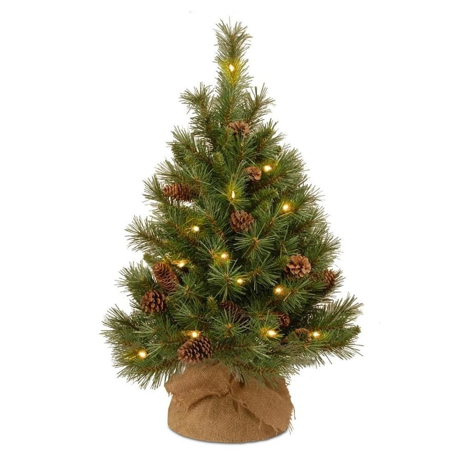 Pre Lit Led Lights Christmas Tree: National Tree Company 3-ft Pre-lit Artificial Christmas