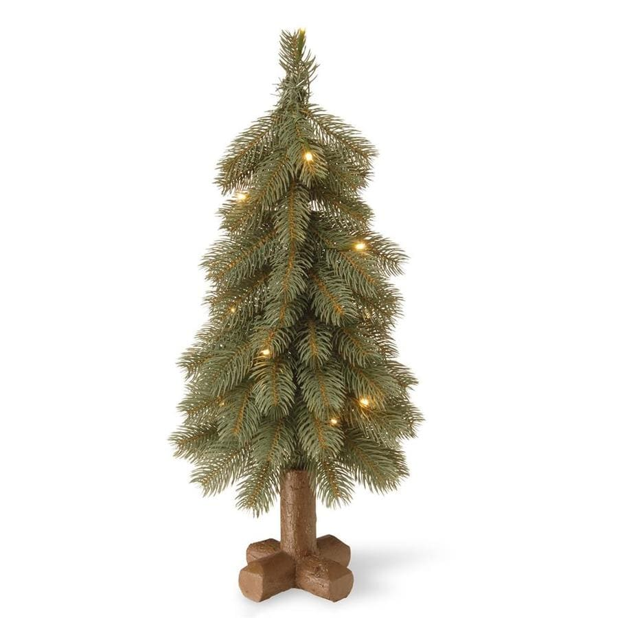 national tree company 2 ft pre lit slim artificial christmas tree with 15 constant