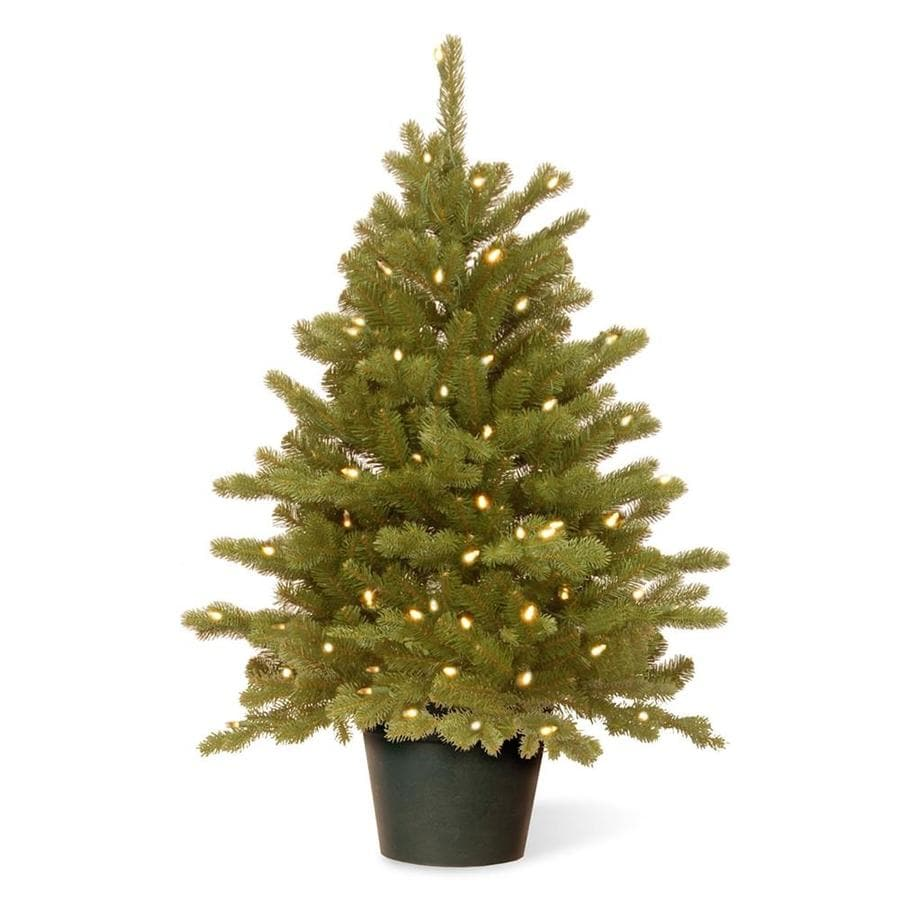 National Tree Company 3-ft Pre-lit Spruce Artificial ...