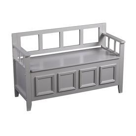 Boston Loft Furnishings Gray Indoor Storage Bench