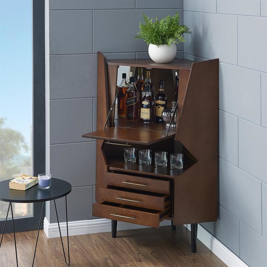 Boston Loft Furnishings Laney Corner Bar Cabinet