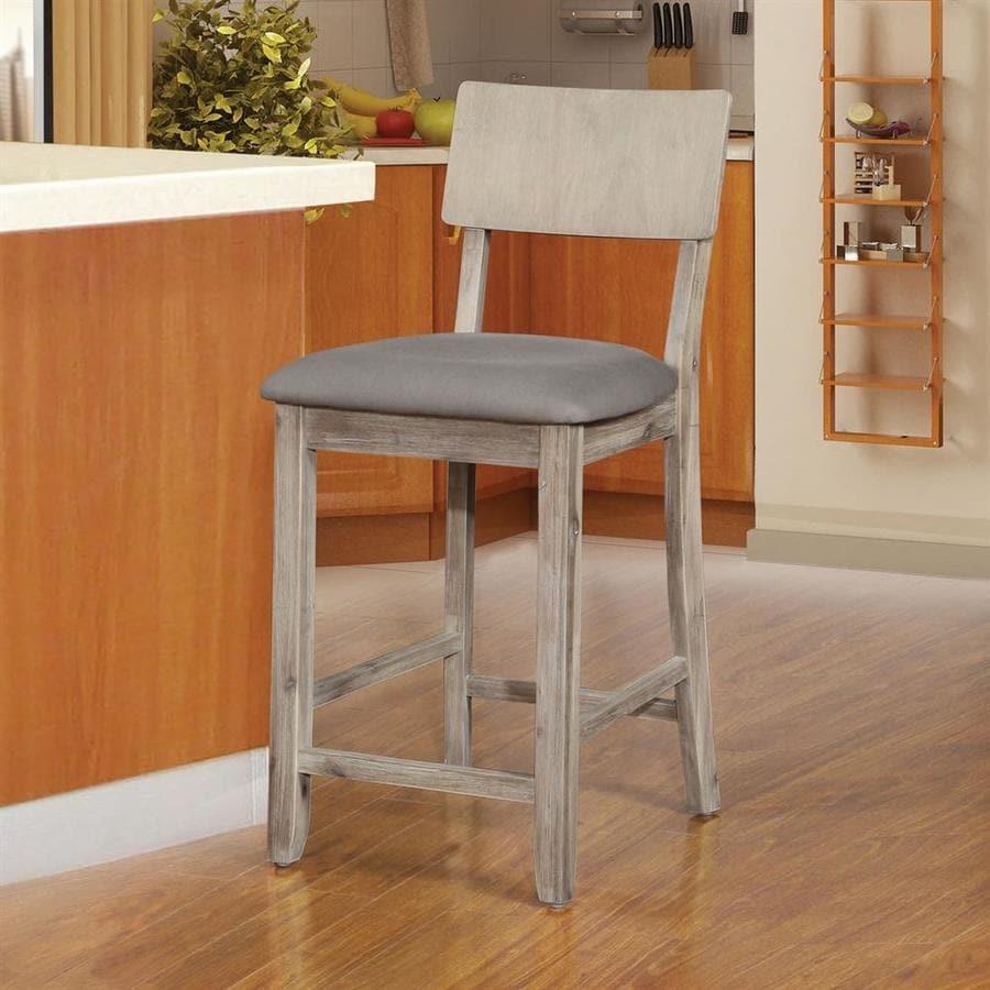 Linon Home Decor Jordan Gray Counter Stool At Lowes Com
