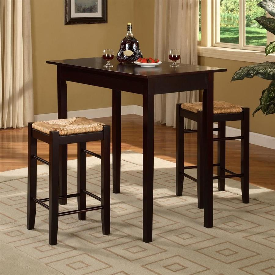 Linon Home Decor Tavern Espresso Dining Set With Rectangular Counter 35 In 37 Table