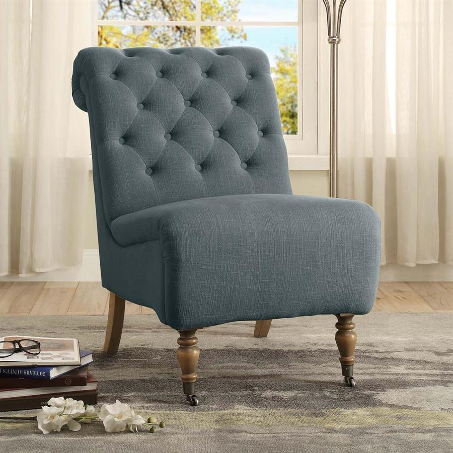 Linon Home Decor Cora Roll Back Tufted Chair
