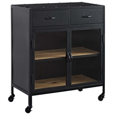 Modway Charm Black Kitchen hutch at Lowes.com