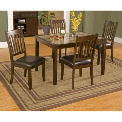 Awesome Alpine Furniture Capitola Espresso Dining Set With Short Links Chair Design For Home Short Linksinfo