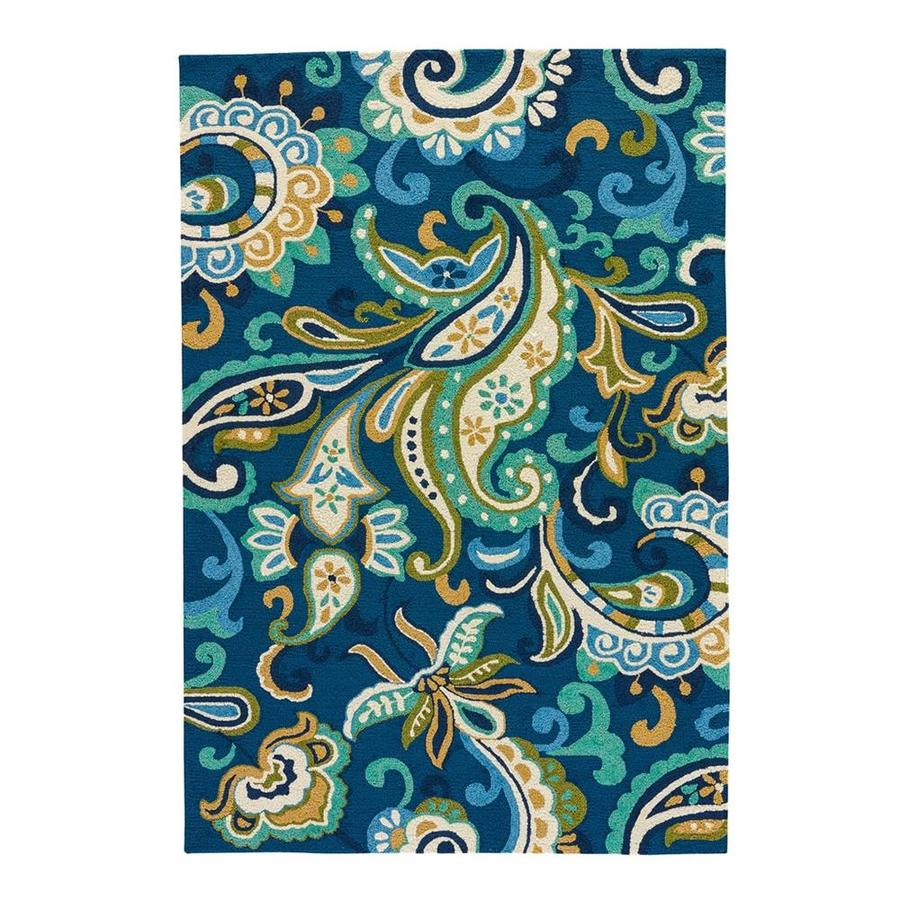 Jaipur Barcelona Calico Daphne Turquoise Outdoor Rug Indoor Outdoor