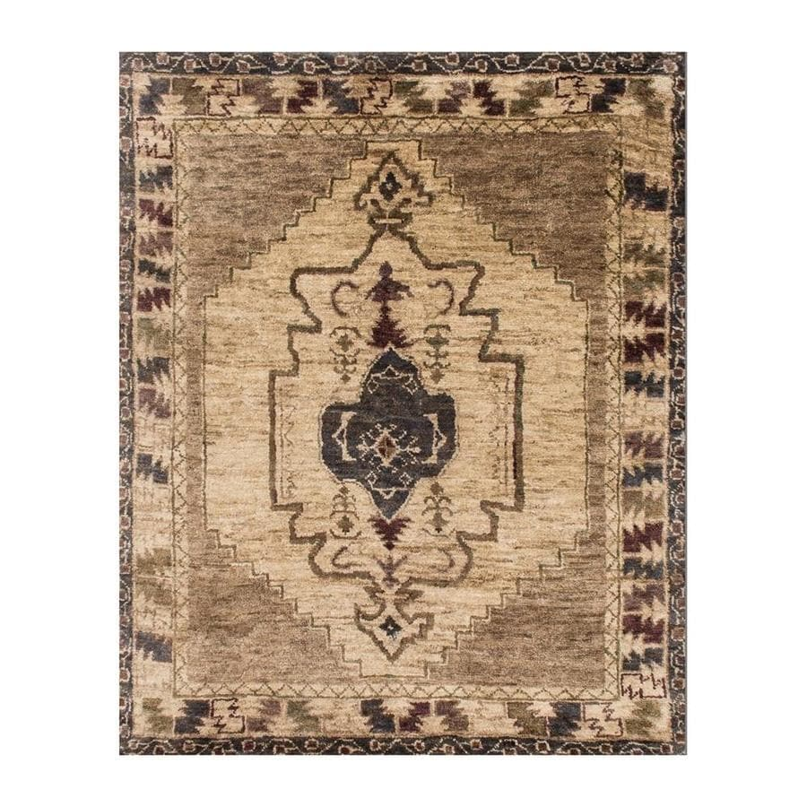 Loloi Nomad Mocha Beige Indoor Handcrafted Area Rug Common 8 X 11