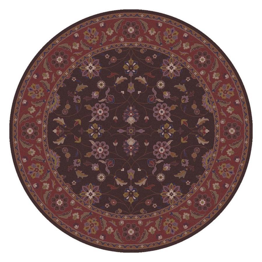 Surya Caesar Dark Purple Dark Brown Round Indoor Handcrafted Area