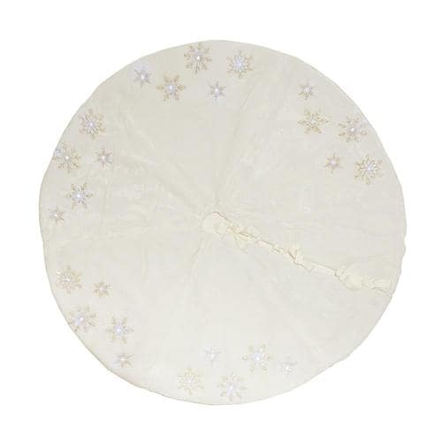 Lowes Christmas Tree Skirts: XIA Home Fashions 56-in White Christmas Tree Skirt At