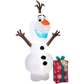 j marcus 12 ft lighted olaf christmas inflatable