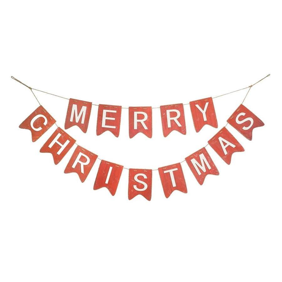 melrose international merry christmas garland set of 2 5 ftl wood