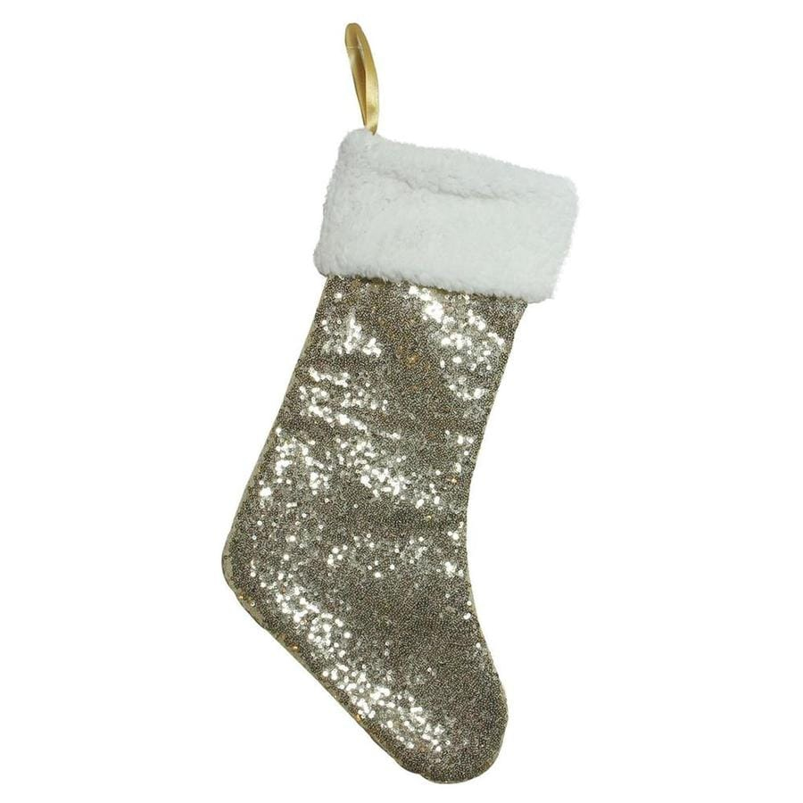 northlight 18 in gold christmas stocking - Gold Christmas Stocking