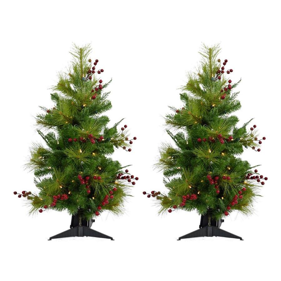 Shop Fraser Hill Farm 4.8-ft Pre-lit Classic Pine Artificial ...