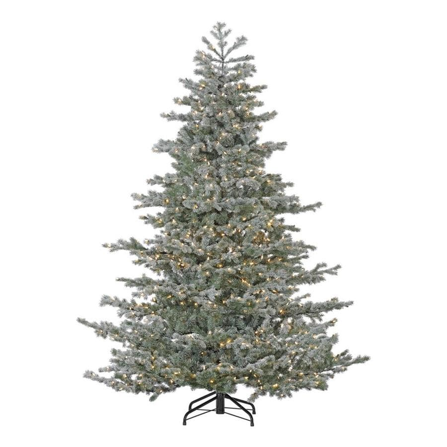 Shop Fraser Hill Farm 9-ft Pre-lit Artificial Christmas Tree with ...