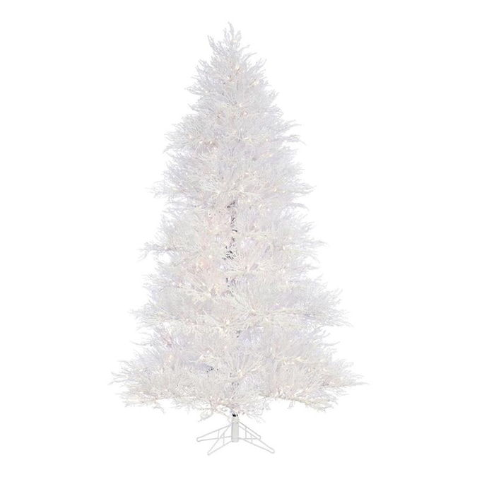 Fraser Hill Farm 7 5 Ft Pre Lit Classic Pine Artificial Christmas Tree With 750 Multi Function White Clear Incandescent Lights In The Artificial Christmas Trees Department At Lowes Com