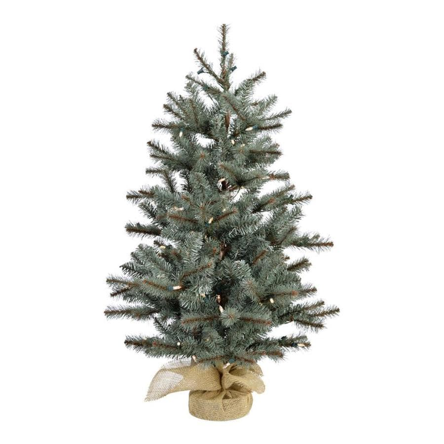 59edc730f79 Fraser Hill Farm 3-ft Pre-lit Classic Pine Artificial Christmas Tree with  150 Multi-function White Clear LED Lights