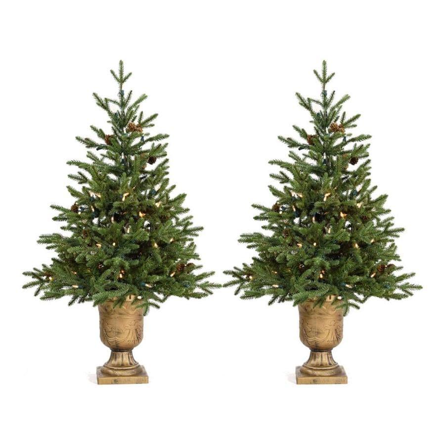 Shop Fraser Hill Farm 3.6-ft Pre-lit Noble Fir Artificial Christmas ...
