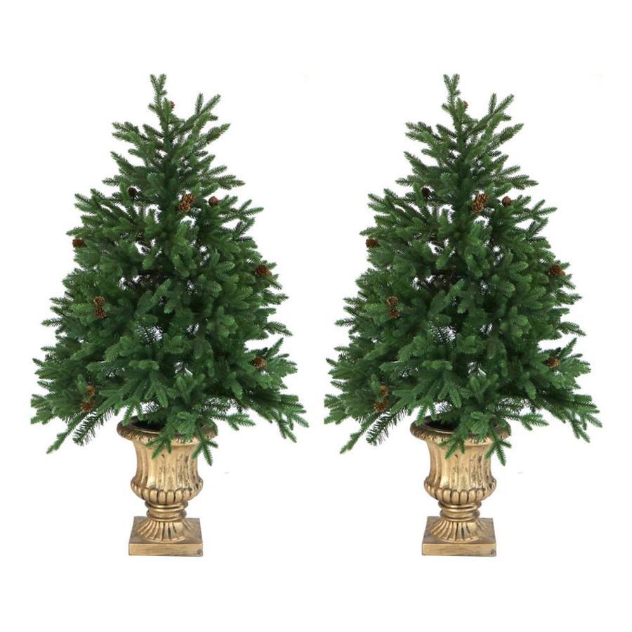 8ft Christmas Tree Pre Lit: Fraser Hill Farm 4.8-ft Pre-lit Noble Fir Artificial