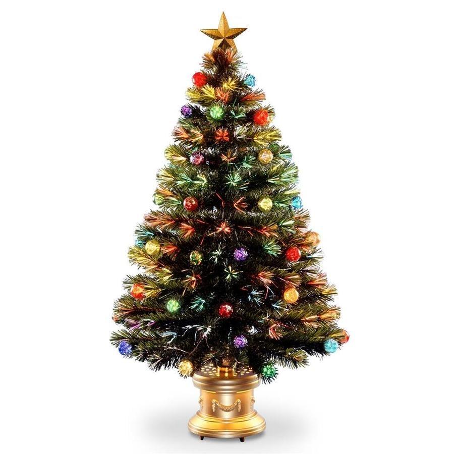 Christmas Tree Fiber Optic Lights: National Tree Company 48-in Pre-Lit Fiber Optic Fireworks