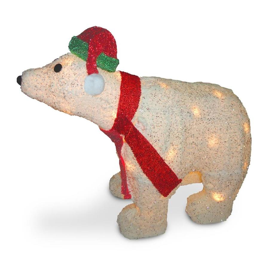 National Tree Company 18 5-in Pre-Lit Polar Bear with Clear