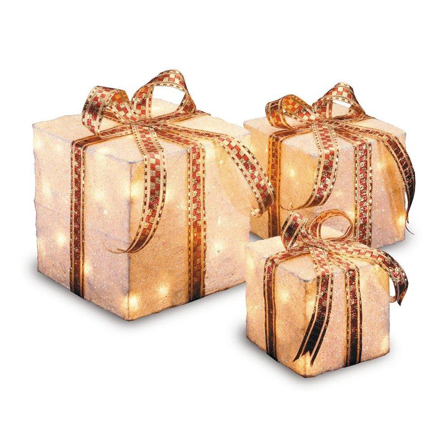 Shop National Tree Company Lighted Gift-Box Christmas Gift at Lowes.com