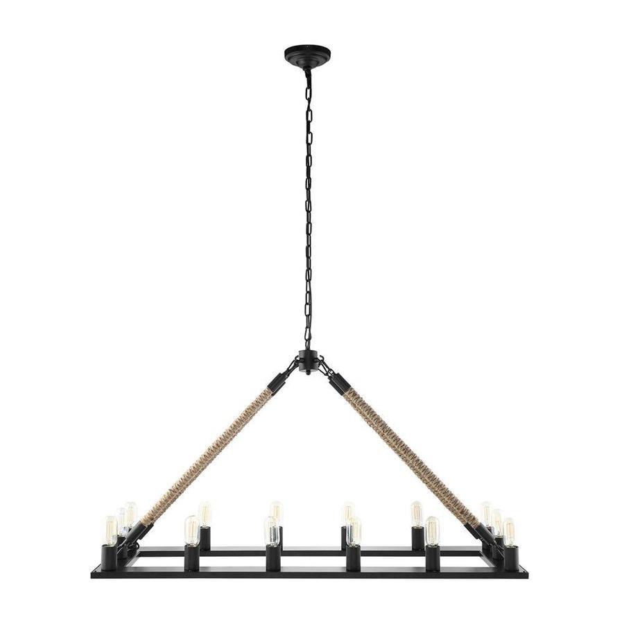 Modway 49.0 14 Light Black Rustic Hardwired Linear Chandelier by Lowe's