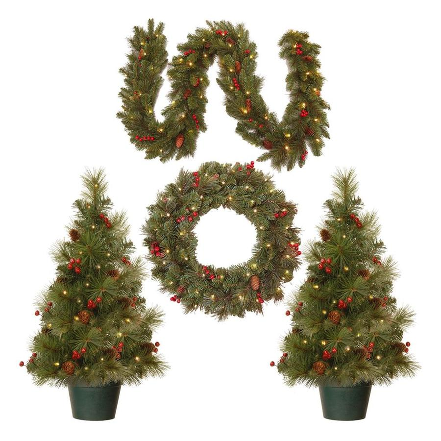 national tree company pre lit christmas decoration assortment with battery operated led lights
