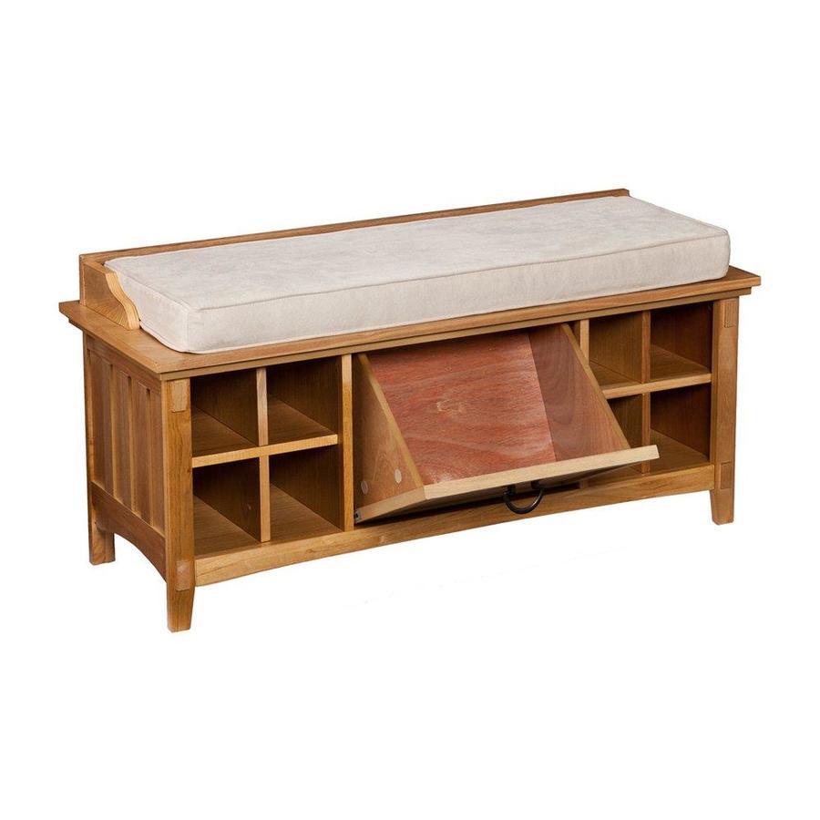 Loft Bench Seat Natural: Boston Loft Furnishings Karsten Casual Natural Oak Storage