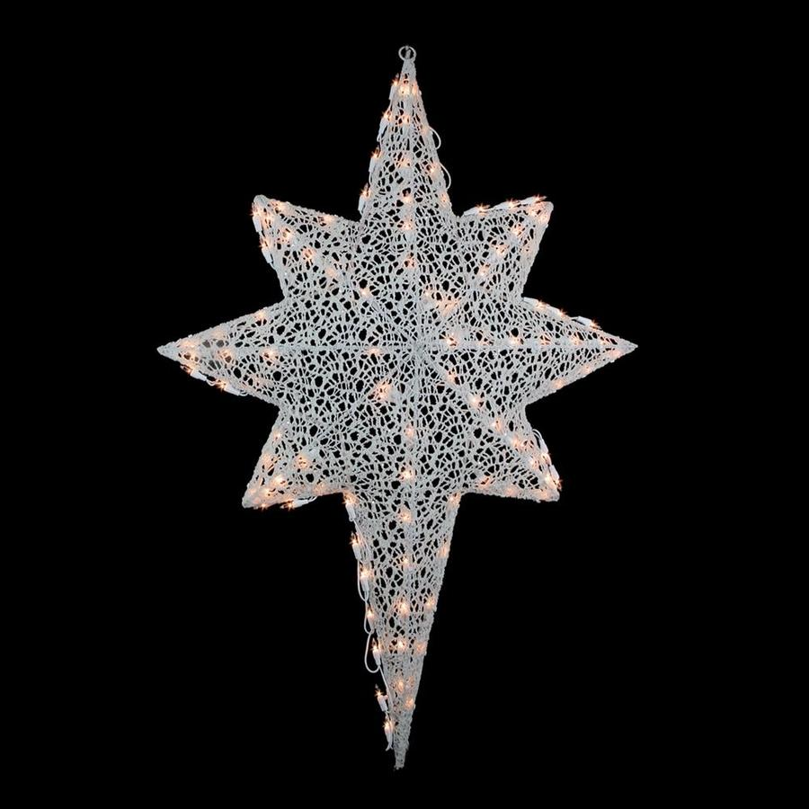northlight 3 ft glittering mesh 2 d lighted star of bethlehem outdoor christmas decoration