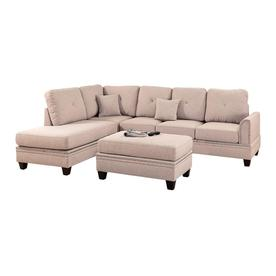 Poundex 3 Piece Bobkona Bandele Coffee Living Room Set