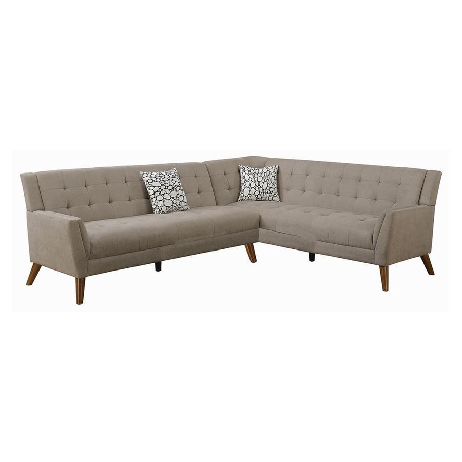 Poundex Bobkona Geva 2 Piece Sectional Sofa