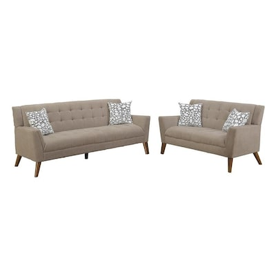 Fine Poundex Bobkona Rozene 2 Piece Sofa And Loveseat Set At Gmtry Best Dining Table And Chair Ideas Images Gmtryco
