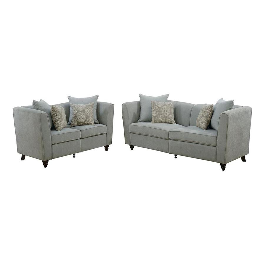Superbe Poundex Bobkona Obert 2 Piece Sofa And Loveseat Set