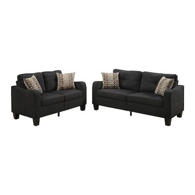 Groovy Bobkona Spencer Fabric 2 Piece Sofa And Loveseat Set Creativecarmelina Interior Chair Design Creativecarmelinacom