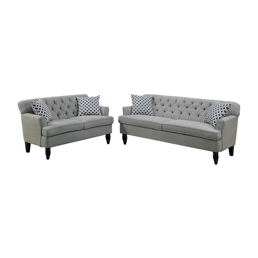 Awe Inspiring Shop Poundex Bobkona Fostord 2 Piece Sofa And Loveseat Set Gmtry Best Dining Table And Chair Ideas Images Gmtryco