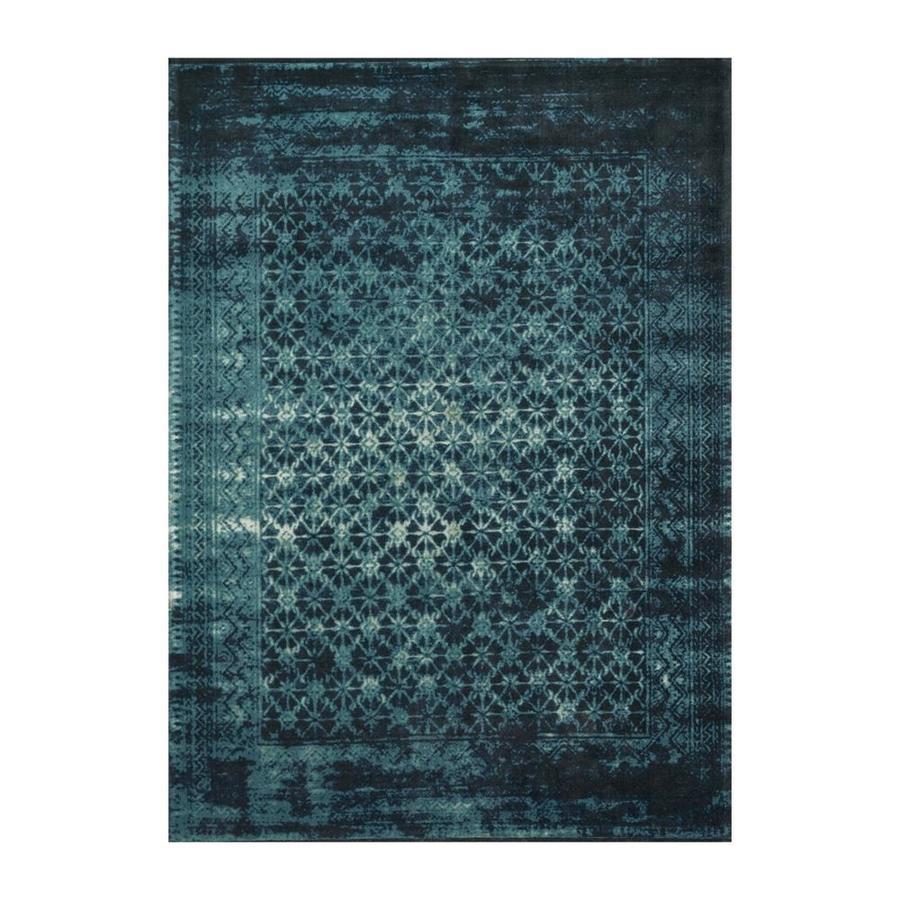 Loloi Journey Indigo Blue Indoor Distressed Area Rug Common 12 X 15