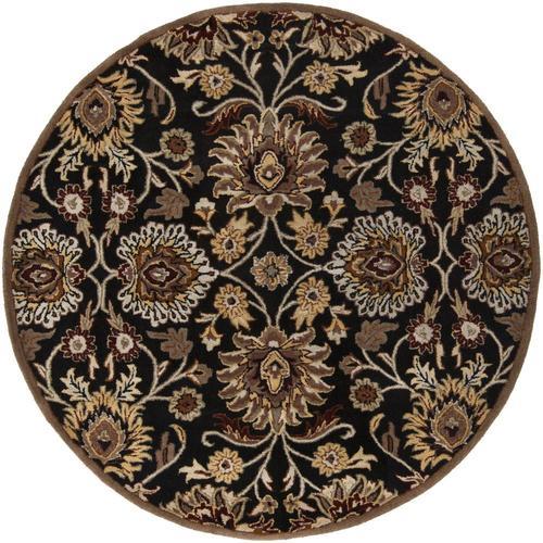Surya Caesar Black Round Indoor Handcrafted Oriental Area