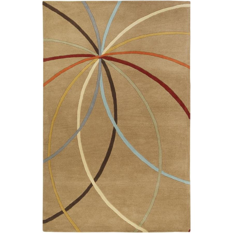 Surya Forum 4 X 6 Tan Abstract Industrial Handcrafted Area Rug In The Rugs Department At Lowes Com