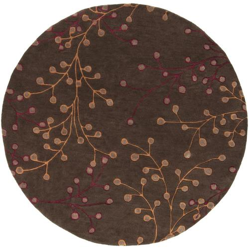 Surya Athena Dark Brown Round Indoor Handcrafted Tropical