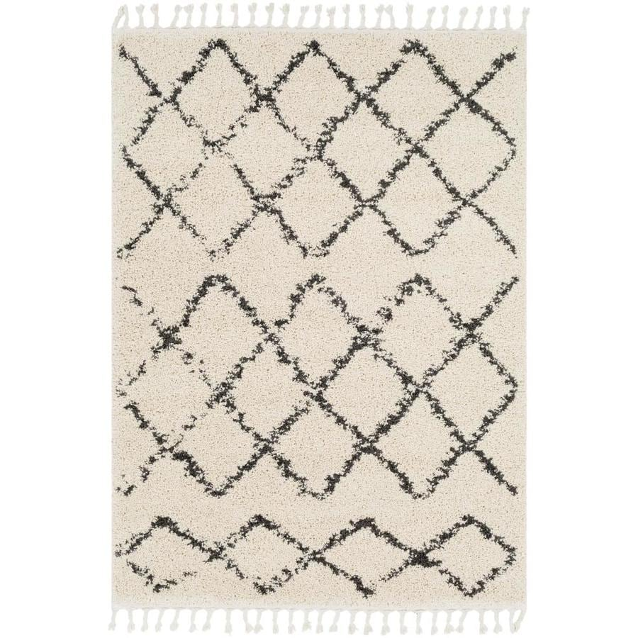 Surya Berber Shag 2 X 3 Beige Indoor Trellis Moroccan Area Rug In The Rugs Department At Lowes Com
