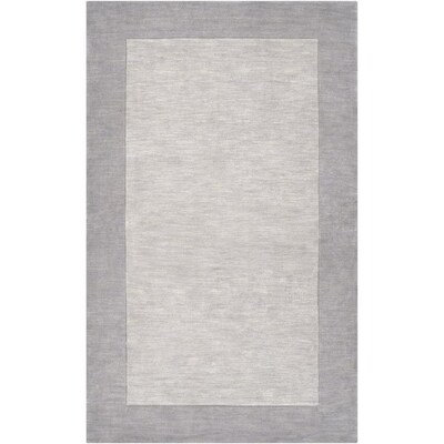 Surya Mystique Solid And Border Area Rug 3 Ft3 In X 5 Ft3 In
