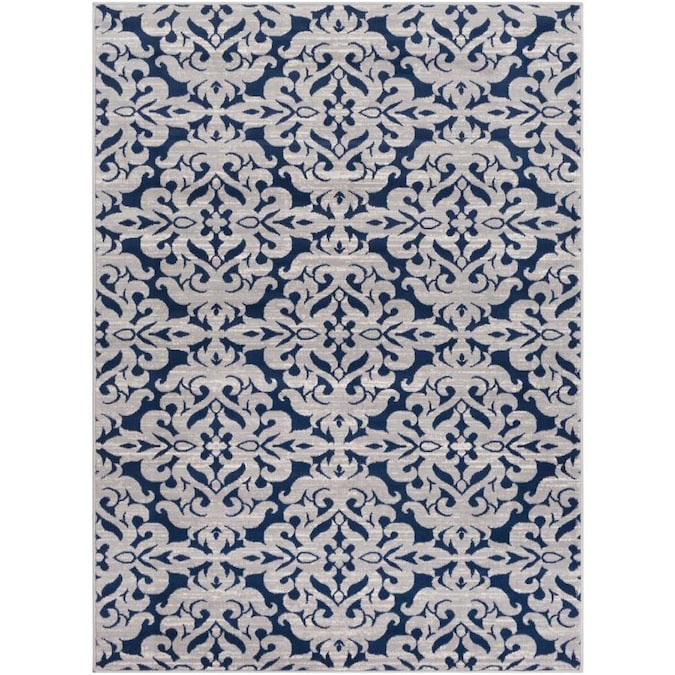 Navy Indoor French Country Area Rug