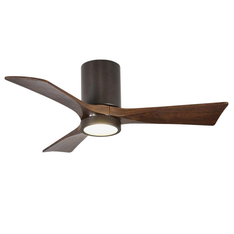 Matthews Fan Company Irene Hlk 42 In Textured Bronze Led Indoor Outdoor Flush Mount Ceiling Fan With Light And Remote 3 Blade In The Ceiling Fans Department At Lowes Com