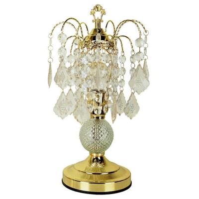 Ore International 15 In Gold Touch Chandelier Table Lamp With