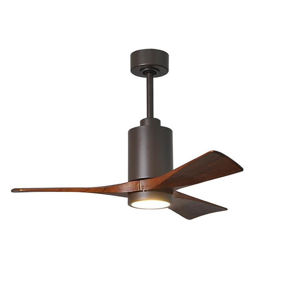 Matthews Fan Company Patricia 3hlk Textured Bronze 42 In Led Indoor Outdoor Ceiling Fan 3 Blade In The Ceiling Fans Department At Lowes Com