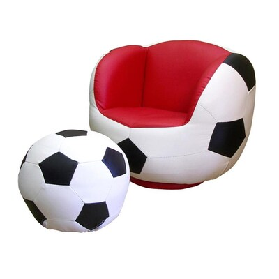 Fabulous Ore International 2 Piece Chair And Ottoman Set Soccer Bralicious Painted Fabric Chair Ideas Braliciousco