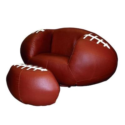 Enjoyable Ore International 2 Piece Chair And Ottoman Set Football Bralicious Painted Fabric Chair Ideas Braliciousco